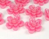 Pink Sakura Flower Cabochon 6pcs