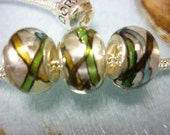 Stained Glass look Pandora style glass Beads