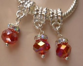 Crystal Red Dangle Charm