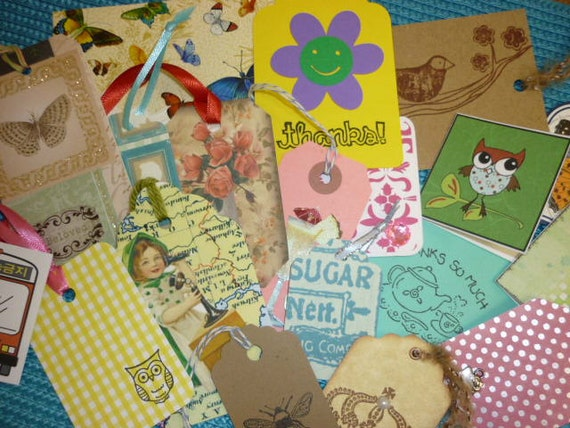 Tags, Paper tags, Handmade TAGS   Gift Tags  10