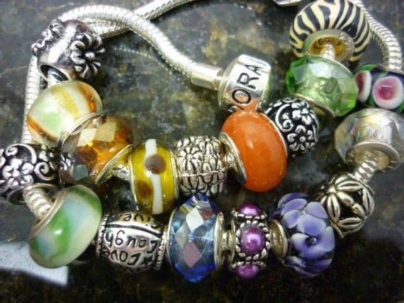 Grab BAG Pandora Style Beads 5 Beads