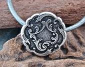Flourish - Unique  Metal Shank Button  - Four Pieces - Perfect For Leather Wrap Bracelets (B61)