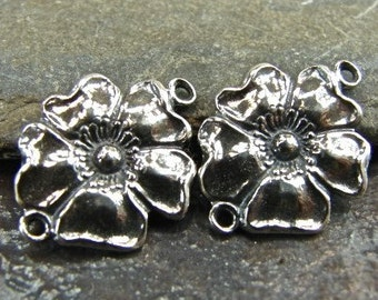 Bloom - Sterling Silver Vintage Replica Foral Links - Ten Pairs - QUANTITY DISCOUNT