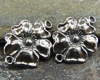 Bloom - Sterling Silver Vintage Replica Foral Links - One Pair