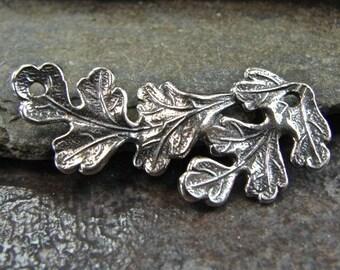 Vintage Oak - Sterling Vintage Replica Oak Leaf Link or Necklace Centerpiece - Ten Pieces - QUANTITY DISCOUNT - nkcpvo10q