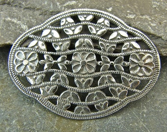Lacy Floral Oval - Sterling Vintage Replica  Link  - One Piece