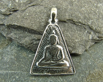Buddha Relic - Sterling Silver Buddha Pendant - Artisan Sterling Findings - One Piece pbr