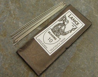 Beading Needles - Number 10 - 25 Pieces - Use With S-Lon For Leather Wrap Bracelets