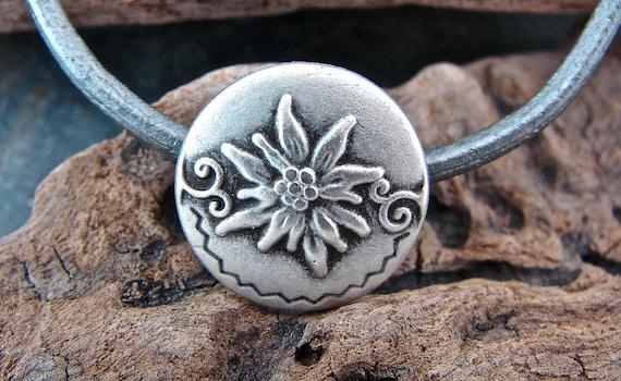Bloom - Unique  Metal Shank Button - 4 Pieces - Perfect For Leather Wrap Bracelets (B4)