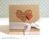 2 Hearts Valentines Day Cards (set of 5)