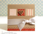 Love Heart Valentine's Day Cards (set of 5)