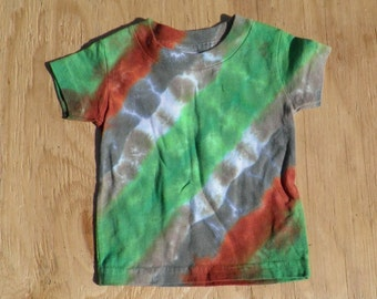 Camouflage Tie Dye Baby T-Shirt (Rabbit Skins 6 Months) (One of a Kind) (On Sale)