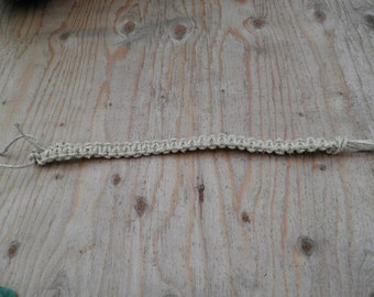 Fat Hemp Square Knot Necklace (16 in.) (One of a Kind)