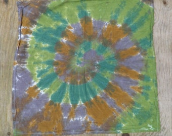 Camouflage Spiral Tie Dye Kitchen Towel (One of a Kind)