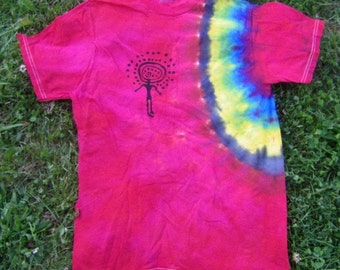 Red Shaman Tie Dye T-Shirt (Size Small) (One of a Kind)