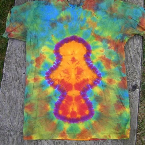 Mushroom Tie Dye T-Shirt (Size M) (American Apparel Organic Cotton) (One of a Kind)
