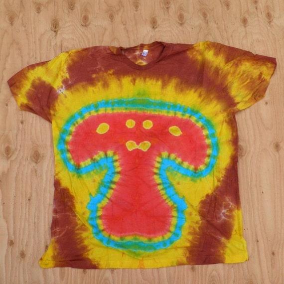 Mushroom Tie Dye T-Shirt (Size 3XL) (American Apparel Organic Cotton) (One of a Kind)