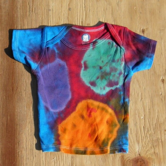 Cosmic Galaxy Tie Dye Baby T-Shirt (Gerber Size 6-9 Months) (One of a Kind)