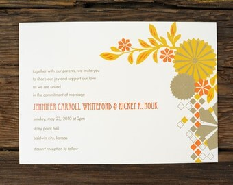Geometric Nature Wedding Invitations - Plantable Option