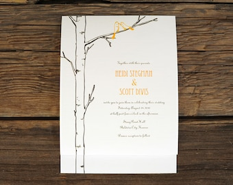 Winter Aspen Tree Wedding Invite