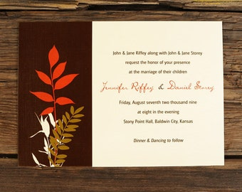Nature Inspired - Wedding Invitation Set