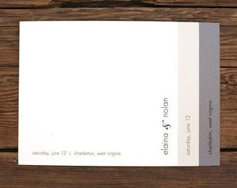 Custom Wedding Invite Set - Simple Layer