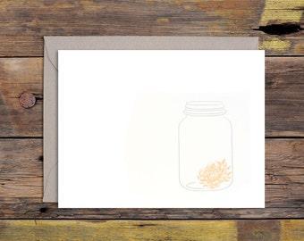 Mason Jar Letterpressed Greeting Card