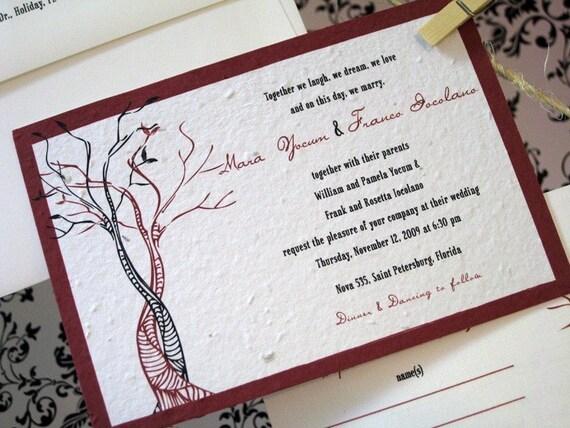 Custom Wedding Invite Set - Plantable Option