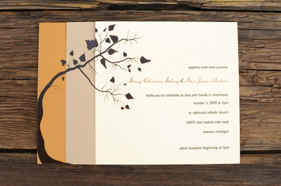 Fall Tree Layered - Wedding Invitation Set