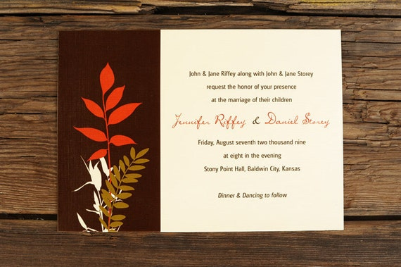 Nature Themed Wedding Invitations Nature Inspired Wedding Invitation Set By Ruffhouseart On Etsy