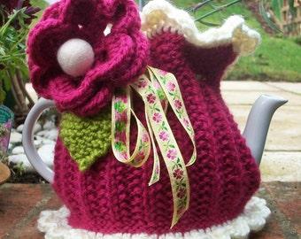 "Knitted Tea Cosie...  "" Violet """