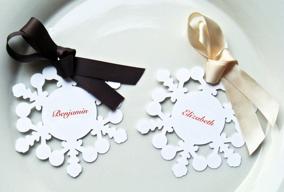 Snowflake Table Number Card