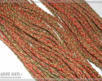 Handspun Sport weight Diamond Cable yarn 100% Wool 50g - FALL JEWEL
