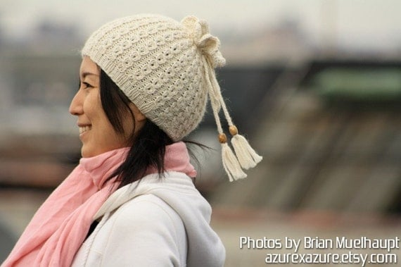 PATTERN - Drawstring Hat and Neck Warmer (PDF Data)