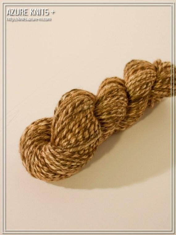 Handspun Hand Dyed CVM Merino Nylon DK-Worsted Yarn 50g - CHESTNUT