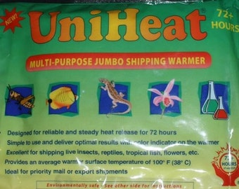 For Plant Orders Only Shipping Warmer 72 Hour Heat Pack UniHeat