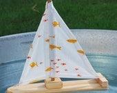 Goldfish Wooden Sailboat