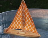 Dotty Wooden Sailboat