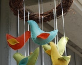 Fall Brights Bird Mobile