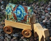 Tapestry Caravan Wagon with Horse and Driver