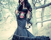 Gothic Wedding Dress, Evening Gown, Red Carpet Gown
