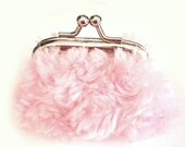 Quite So Pink and Fluffy - Tiny Twistlock Coin Purse