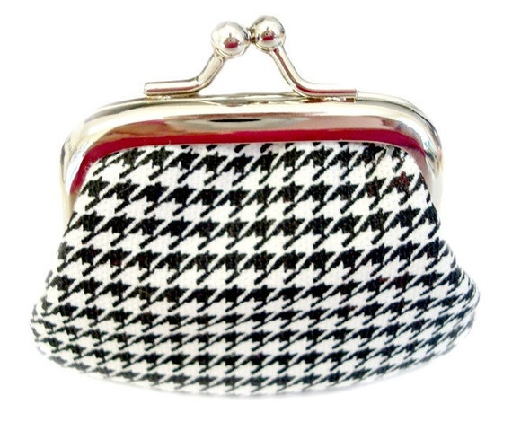 It's Dashing Houndstooth, My Dear- Tiny Twistlock Coin Purse