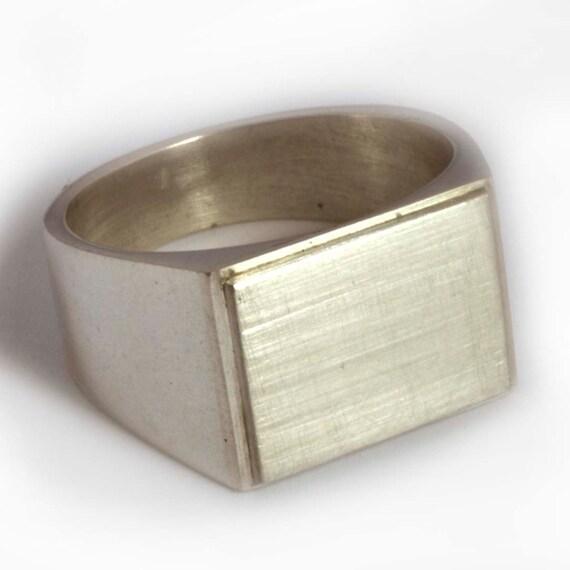 Rectangle shaped ring for men