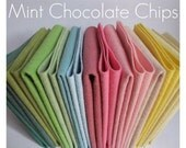 Mint Chocolate Chip // 9x12 sheets of Merino wool blend felt // Collection of 15 colors