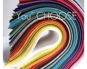 """YOU choose """"15"""" fun colors to be exact // 9x12 sheets of merino wool blend felt // Let the Pickings Begin..."""