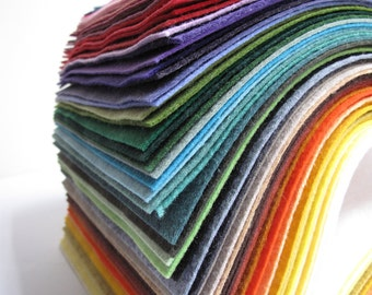 "YOU choose ""25"" Fun Colors to be exact // 9x12 sheets of Merino Wool blend Felt"