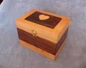 Oak \/ Walnut Recipe Box