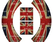 Vintage Cupcake Wrapper - Cupcake Topper - Party - Printable - Union Jack - Jubilee - Great Britain - London