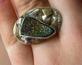 The Adjustable Pyrites Stone Ring